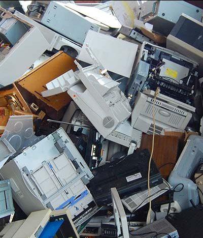 Reciclaje de aparatos electrónicos viejos