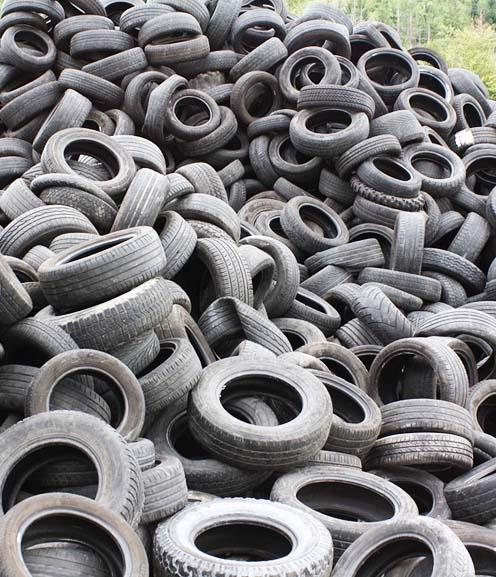 Destrucción de neumáticos